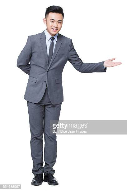 Young businessman greeting