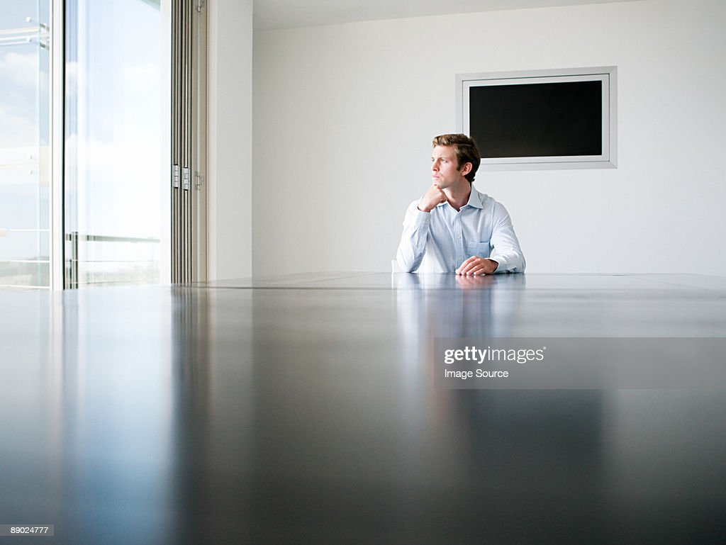 Young businessman in a conference room : Stock Photo