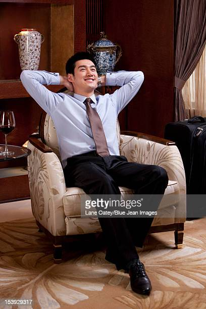 Young businessman in hotel