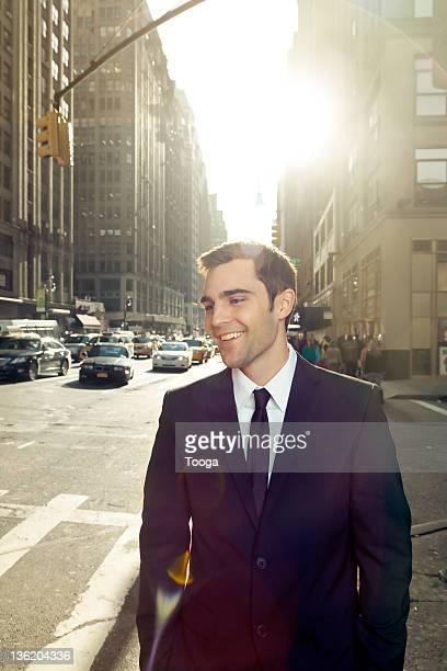 Young businessman on the streets of NYC