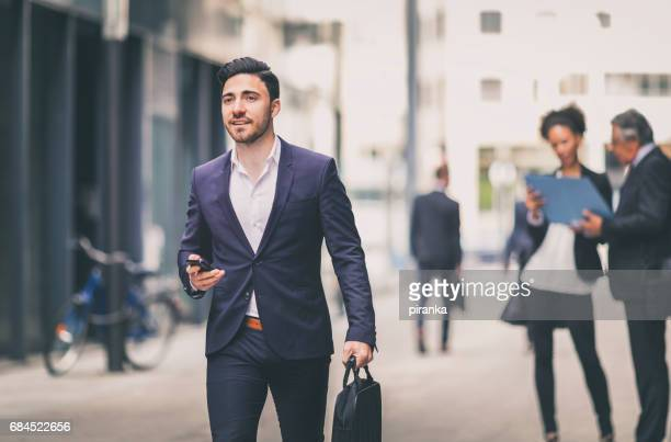 Young businessman outdoors