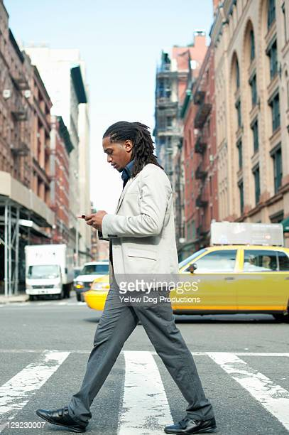 Young Businessman with Smartphone in New YOrk City