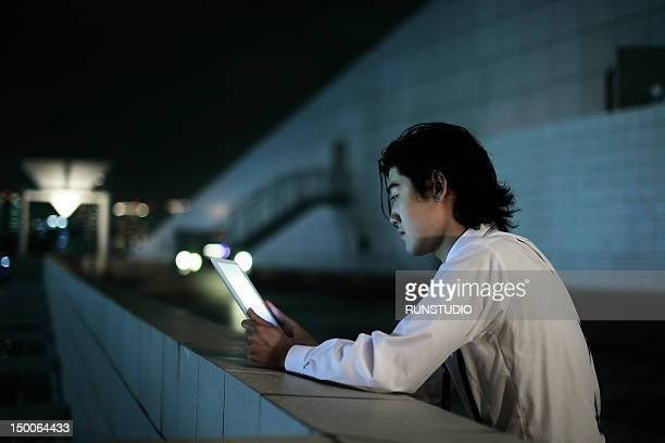 young businessman with tablet computer