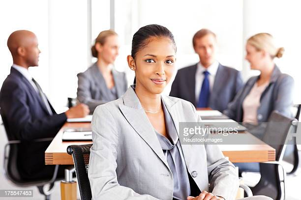 Young Businesswoman at a Meeting