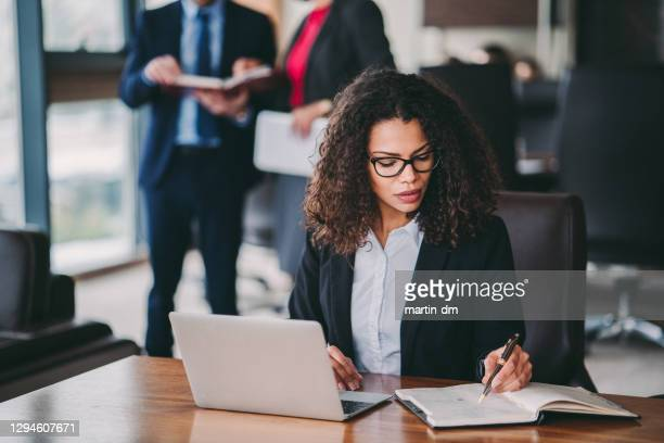 young businesswoman at work - journalist stock pictures, royalty-free photos & images