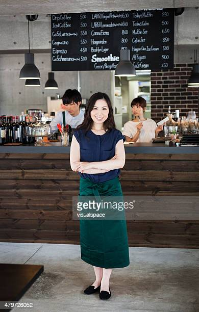 Young businesswoman in a cafe