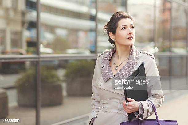 Young businesswoman in the city