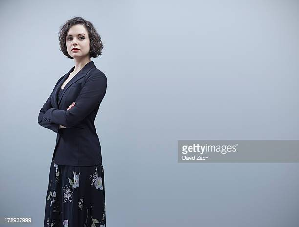 young businesswoman, portrait - three quarter length stock pictures, royalty-free photos & images