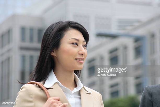 A young businesswoman smiling
