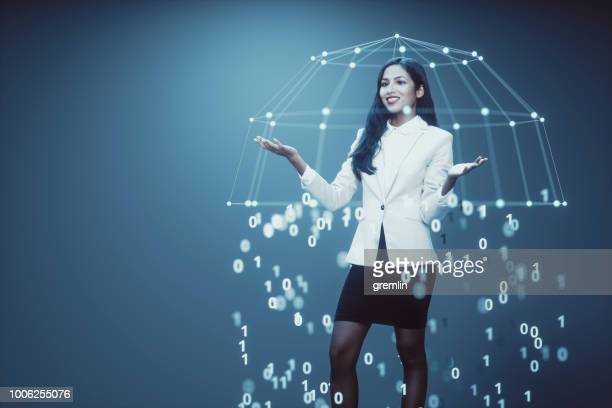 young businesswoman, technology concept - gdpr stock pictures, royalty-free photos & images