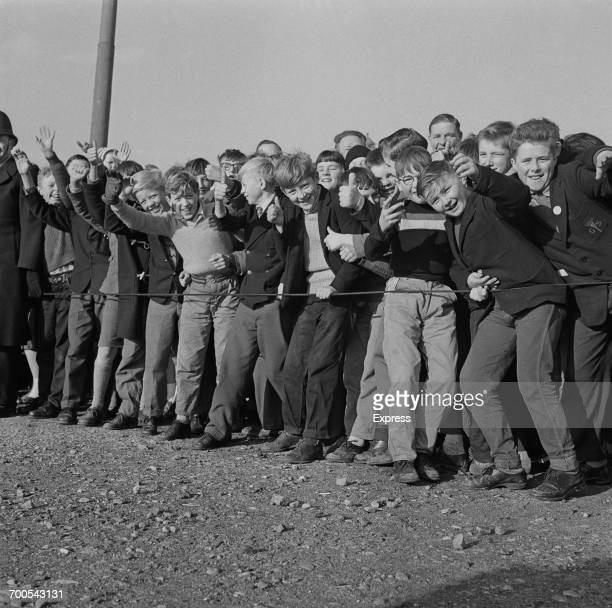 Young bystanders during Prince Philip's visit to the Bird's Eye food processing plant in Lowestoft UK 18th November 1960