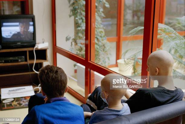 Young cancer victims of the Chernobyl disaster watch a television in the lounge room of a hospital in September 2004 in Minsk Belarus Next month sees...