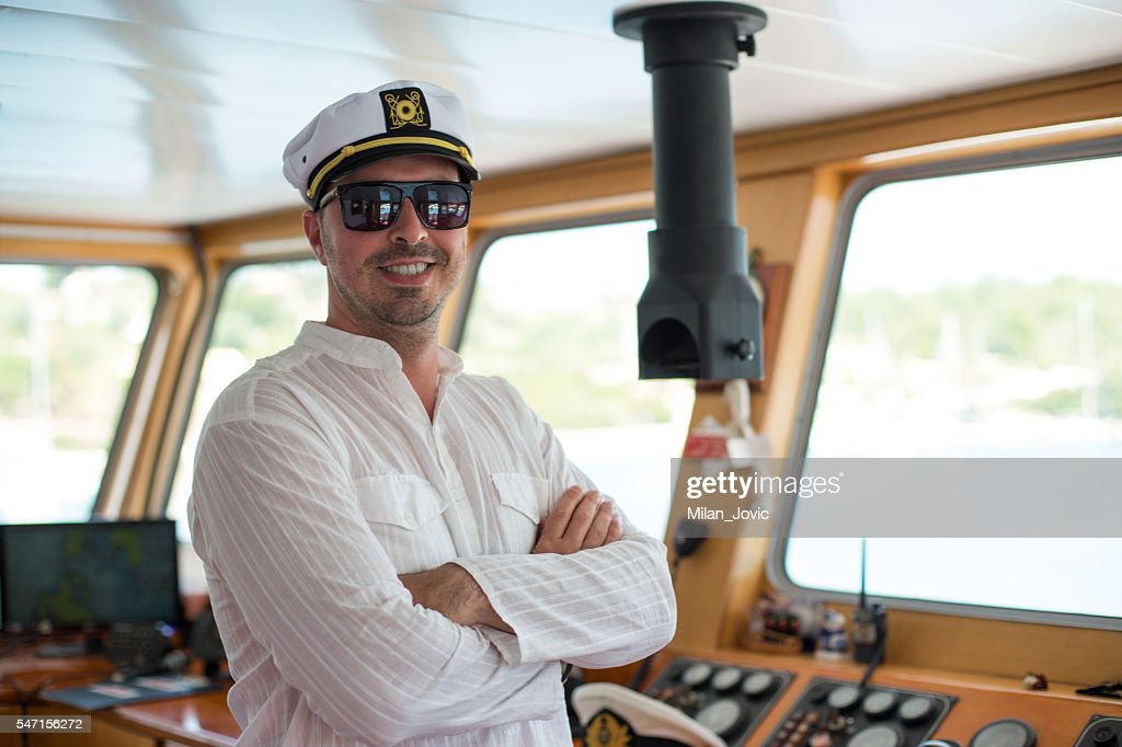 Young captain : Stock Photo