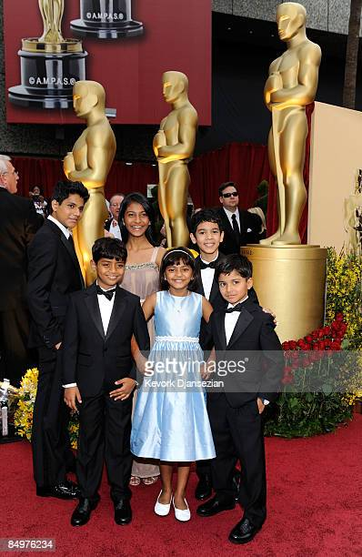 Young cast of 'Slumdog Millionaire' arrive at the 81st Annual Academy Awards held at Kodak Theatre on February 22 2009 in Los Angeles California