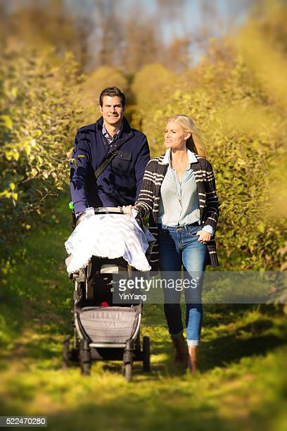 Young Caucasian Family Couple with Parents and Baby