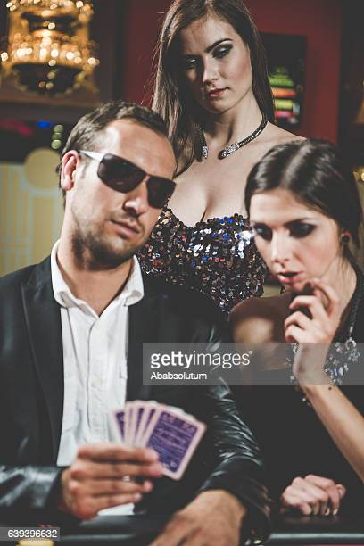 Young Caucasian Poker Players at the Casino, Europe