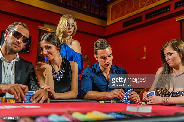 Young Caucasian Poker Players at the Casino, Portorose, Europe