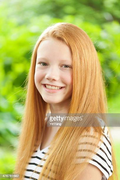 Young Caucasian Teen Girl with Reddish blond hair Portrait