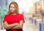 young caucasian woman over isolated background