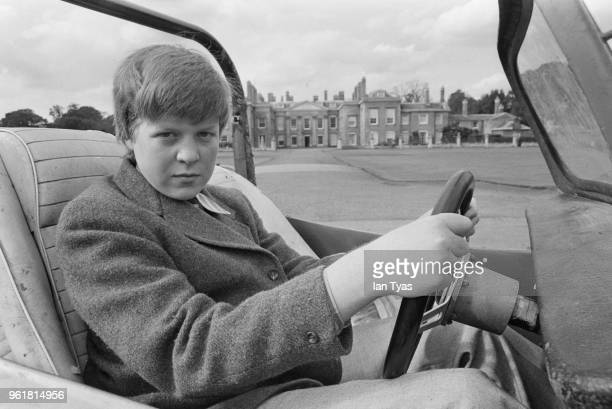 Young Charles Spencer Viscount Althorp and later the 9th Earl Spencer a godson of Queen Elizabeth II and brother of Lady Diana Spencer with his beach...