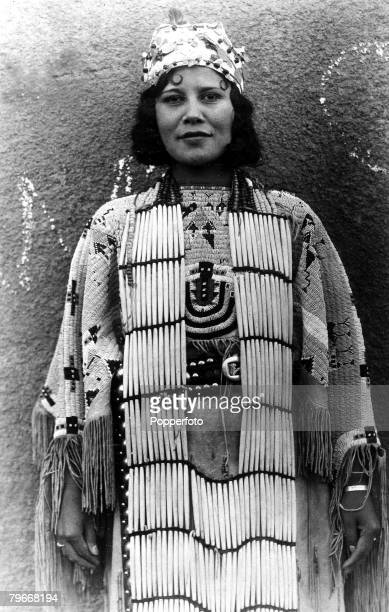 22nd October A full bloodied native Cherokee Indian maiden pictured at Stillwell Oklahoma