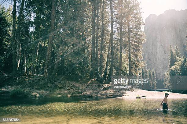 Young child in Yosemite Valley
