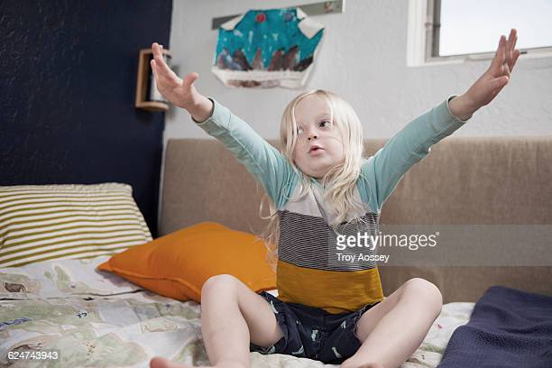 young child pretending to fly. - tempe arizona stock pictures, royalty-free photos & images