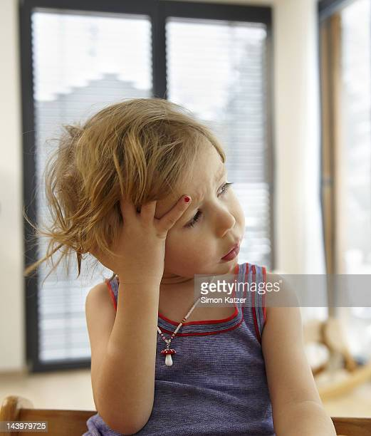 Young child thinking