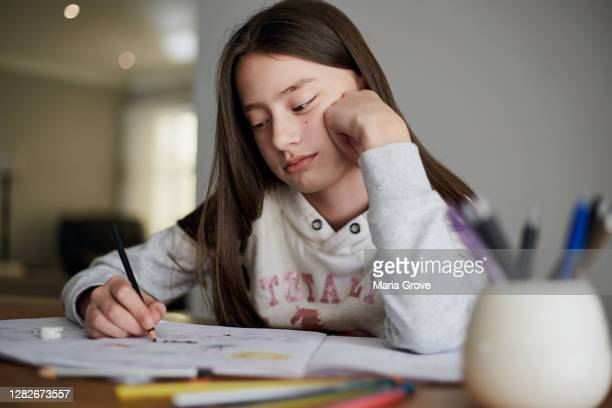 young child tired of doing homework - bad student stock pictures, royalty-free photos & images