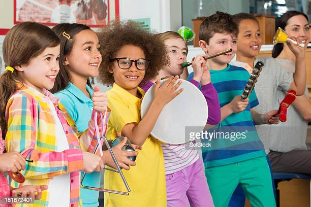 Young Children In Music Class
