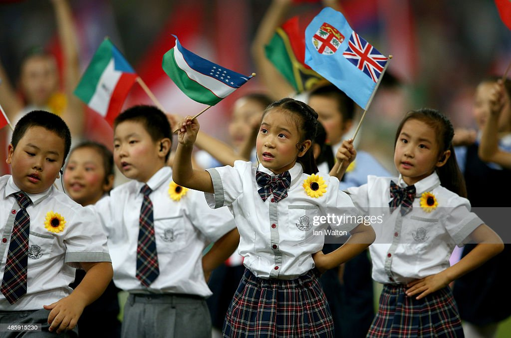 Young children perform during the closing ceremony on day nine of the 15th IAAF World Athletics Championships Beijing 2015 at Beijing National Stadium on August 30, 2015 in Beijing, China.