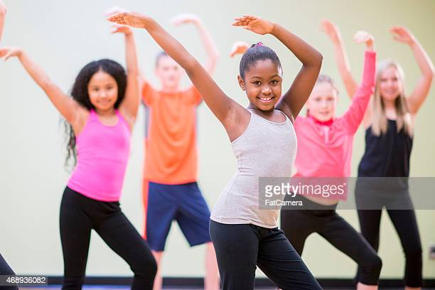 young children practicing dance - dancing stock photos and pictures
