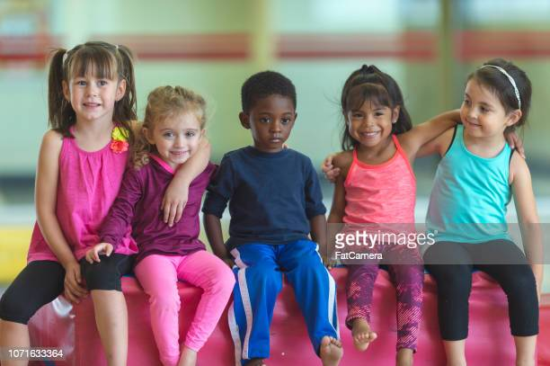 Young children's gym class
