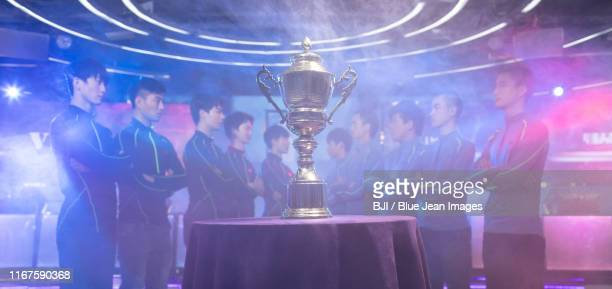 young chinese men taking part in esports competition - visual china group stock pictures, royalty-free photos & images