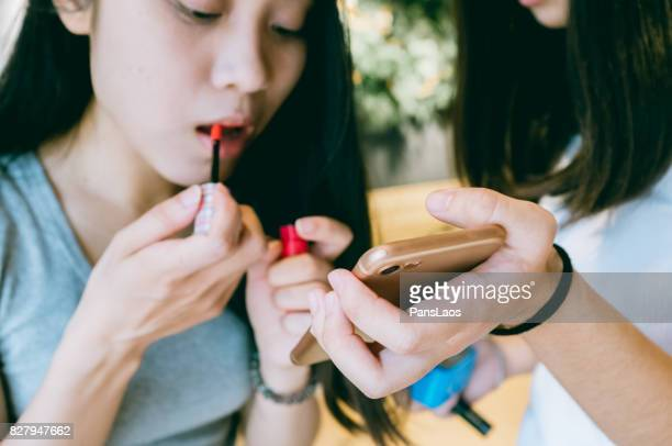 A young Chinese women makeup