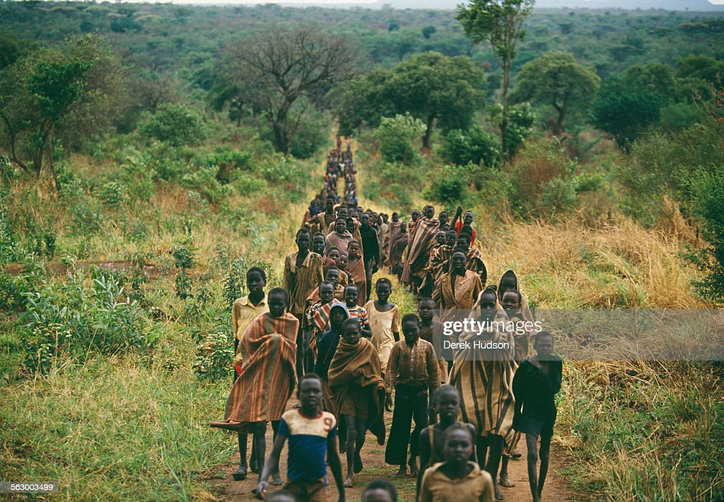 Lost boys of south sudan pictures getty images young christian children who fled the civil war in the sudan arrive at an abandoned catholic publicscrutiny Gallery