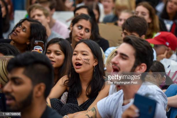 Young climate activists participate in a climate strike demonstration outside the White House on Friday, September 13 in Washington, DC. The group of...
