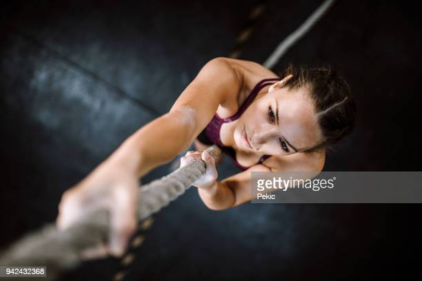 young climbers - crossfit stock pictures, royalty-free photos & images
