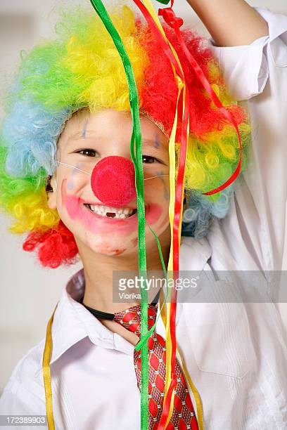 young clown - happy clown faces stock photos and pictures
