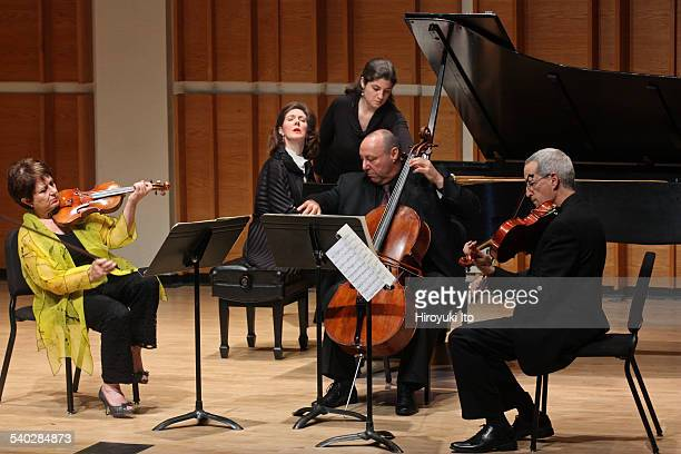 Young Concert Artists Composers Concert at Merkin Concert Hall on Tuesday night February 17 2015This imageFrom left Ida Kavafian AnneMarie McDermott...