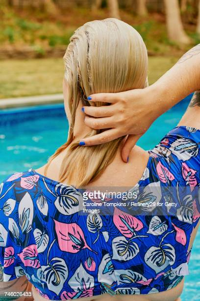 Young Confident Woman From Behind