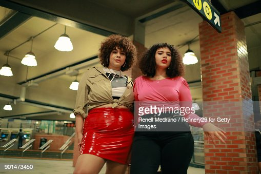 Young Confident Women Hanging Out