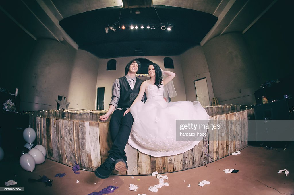 Young Couple After the Wedding : Stock Photo