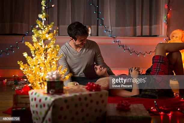 Young couple at christmas