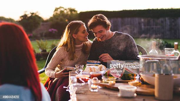 Young Couple at Garden Party