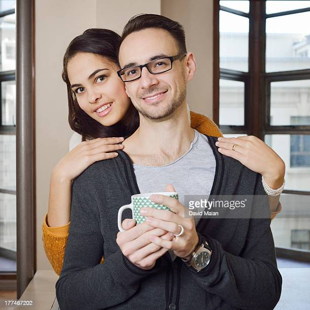 Young couple at home.