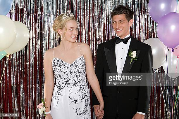 Young couple at prom