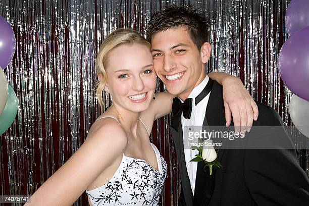 young couple at prom - formal stock pictures, royalty-free photos & images