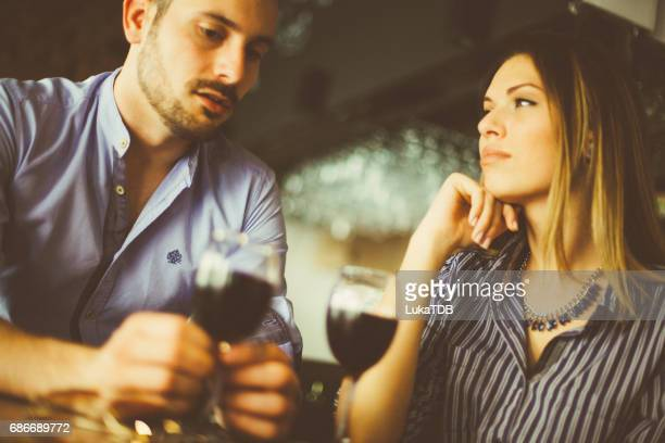 Young couple at the bar