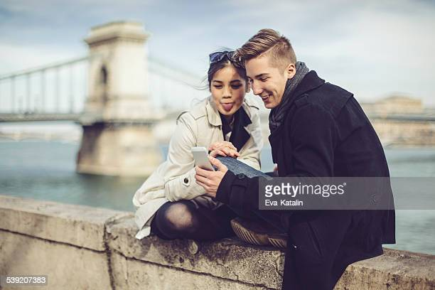 Young couple being together